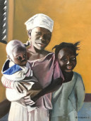 Older sister with siblings in Mali, at home