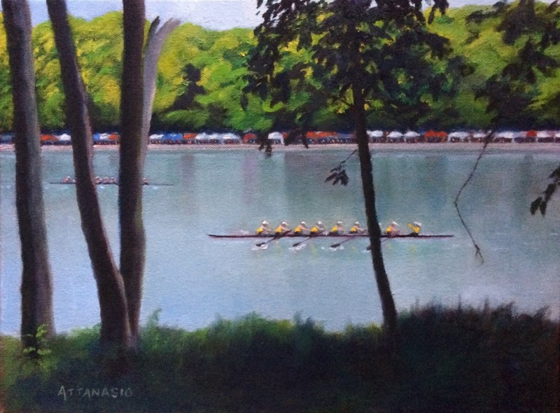 rowing on Schuylkill River