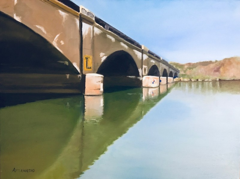 railroad bridge, schuylkill river, philadelphia, attanasio,  john attanasio