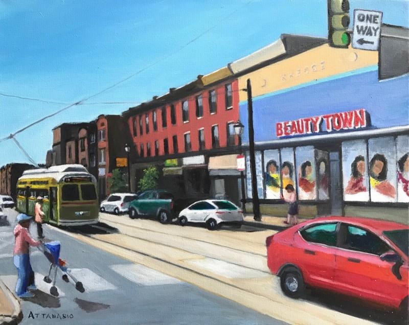 Beauty Town, Girard Ave, Philadelphia, Trolly, Street Car, John Attanasio